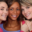 Stock Photo: Three female friends