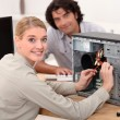 Portrait of female technician — Stockfoto #9179953