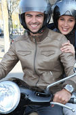 Couple going on a ride — Stock Photo