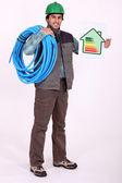 Energy efficient plumber — Stock Photo