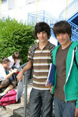 Teenage boys at school — Stock Photo