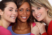 Three female friends — Stock Photo