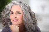 Portrait of beautiful senior woman — Stock Photo