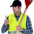 Stock Photo: Landscape gardener