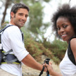 Couple rambling in woods — Stock Photo #9198572