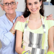 Young woman doing the wash up with her grandmother — Stock Photo