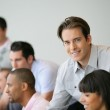 Man in business meeting — Stock Photo