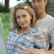 Stock Photo: Couple outdoors
