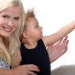 Portrait of a woman with child — Stock Photo #9202587