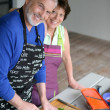 Senior couple cooking — Stock Photo #9205318