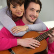 Young couple having fun - Foto Stock