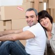 Couple moving house — Stock Photo #9207029
