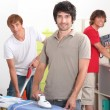 Stock Photo: Guys cleaning