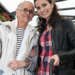 Stock Photo: Grandmother and granddaughter smiling