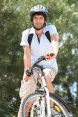 Man biking — Stock Photo