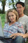 Couple outdoors — Stock Photo