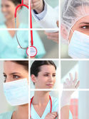 Medical montage — Stock Photo