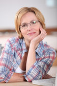 Portrait of woman wearing glasses — Stock Photo
