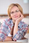 Portrait of woman wearing glasses — Stock Photo