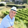 Senior visiting vineyard — Stock Photo #9210138