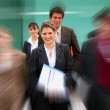 Stock Photo: Blurred business