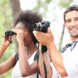 Stock Photo: Couple taking pictures