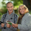 Senior couple going for a walk — Stock Photo #9210984
