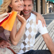 Couple with shopping bags — Stock Photo #9212879