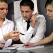 Financial advisers in meeting — Stock Photo #9212966