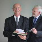 Laughing senior businessmen — Stock Photo