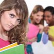 Student being bullied by girls — Stock Photo