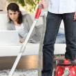 Stock Photo: Sharing out of chores