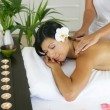 Woman having a massage — 图库照片
