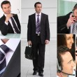 Stock Photo: Collage of business professionals