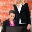 Stock Photo: Serious businesswomen