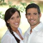 Couple smiling — Stock Photo