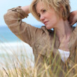 Woman by the sea — Stock Photo #9214232