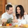 Royalty-Free Stock Photo: Couple having breakfast