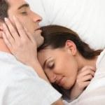 Couple sleeping together — Stock Photo