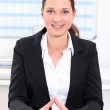 Smiling young businesswoman — Stock Photo