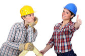 Two craftswomen working together — Stock Photo