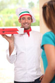 Pizza delivery man — Stock Photo