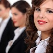 Closeup of a gorgeous woman in smart suit — Stock Photo