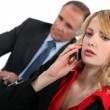 Boss and young female employee — Stock Photo