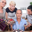 Stock Photo: Birthday party for father