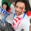 Italian football supporters — Stock Photo