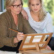 Senior mother and daughter spending time together — Stock Photo #9225758