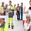 Stock Photo: Construction trades