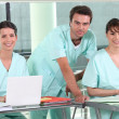 Hospital team — Stock Photo