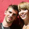 Smiling young couple — Stock fotografie